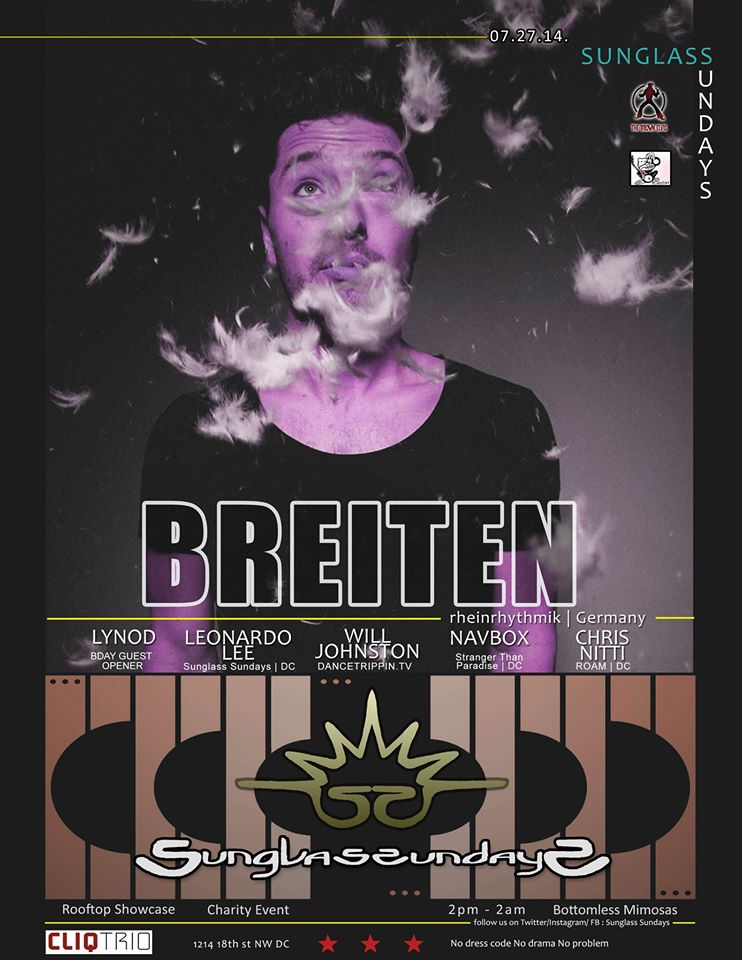 SUNGLASS SUNDAYS | w/ BREITEN [Germany] 4 Hour Set | LOUIE LOCO's BDAY Daytime Rooftop Charity Event