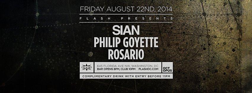 FRI Aug 22 | Sian, Philip Goyette, Rosario at Flash