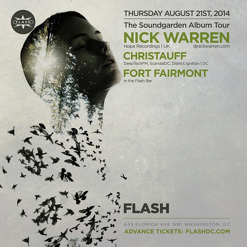 THU Aug 21 Flash presents: Nick Warren (Hope Recordings | UK), Christauff, Fort Fairmont