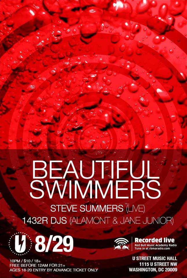 Beautiful Swimmers w/ with Steve Summers (live), 1432R DJs (aLamont and Jane Junior)
