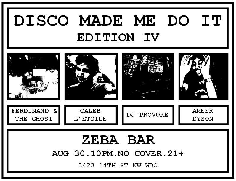DISCO MADE ME DO IT EDITION IV
