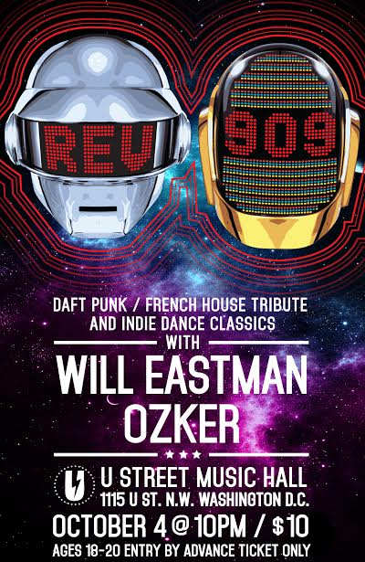 REV909: Daft Punk/French House tribute and Indie Dance classics with Will Eastman & Ozker