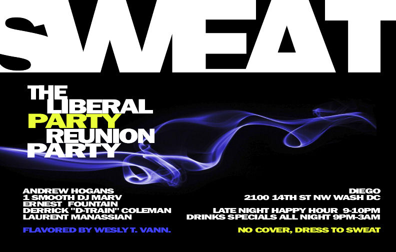 Sweat: The Liberal Party Reunion Party
