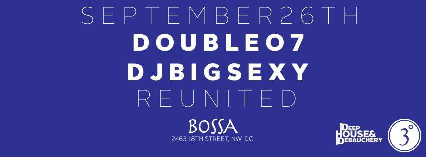 Reunited with DJ Double 07 and DJ Big Sexy at Bossa