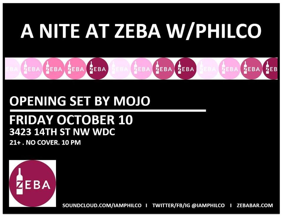 A Nite at Zeba with Philco