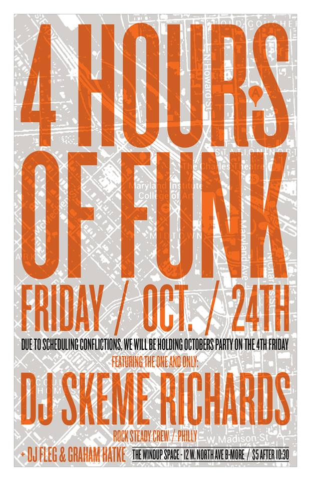 4 Hours of Funk Ft. Skeme Richards at The Windup Space, Baltimore