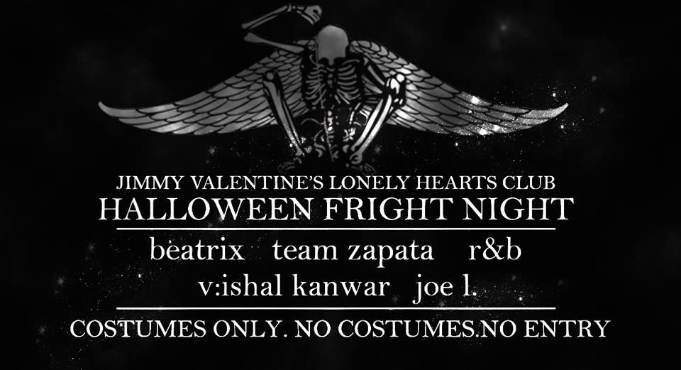 Jimmy valentine's Halloween Fright Night