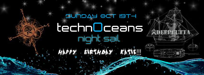 TechnOceans Night Sail Yacht Party With DeepCutta