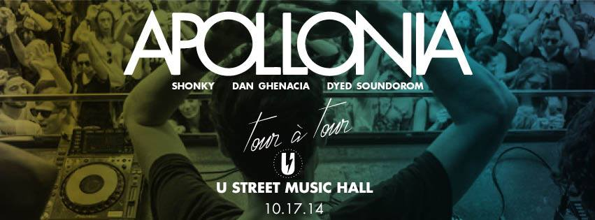 Apollonia (Shonky, Dyed Soundorom, Dan Ghenacia) at U Street Music Hall