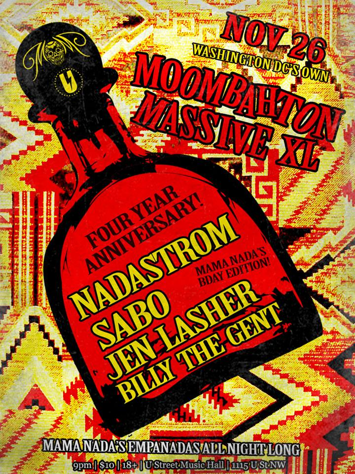 Moombahton Massive XL with Nadastrom, Sabo, Jen Lasher and Billy The Gent at U Street Music Hall