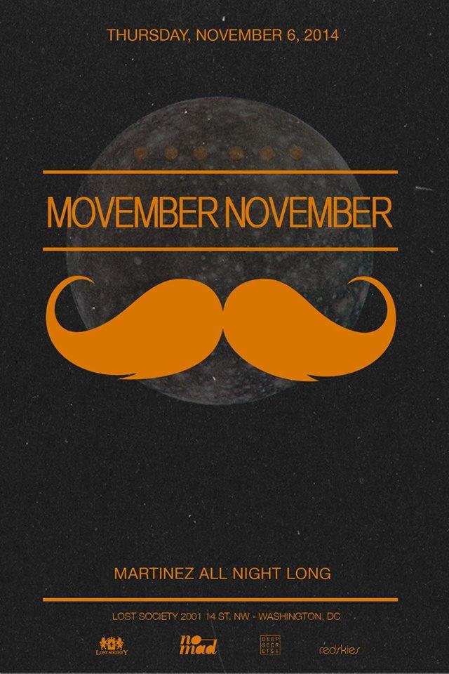 Lost on Thursdays: Movember November feat. Martinez at Lost Society
