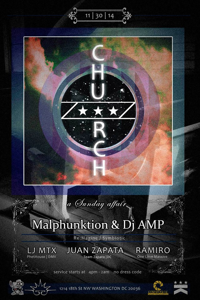 Church a Sunday Affair w/ Malphunktion & Dj Amp at Public Bar