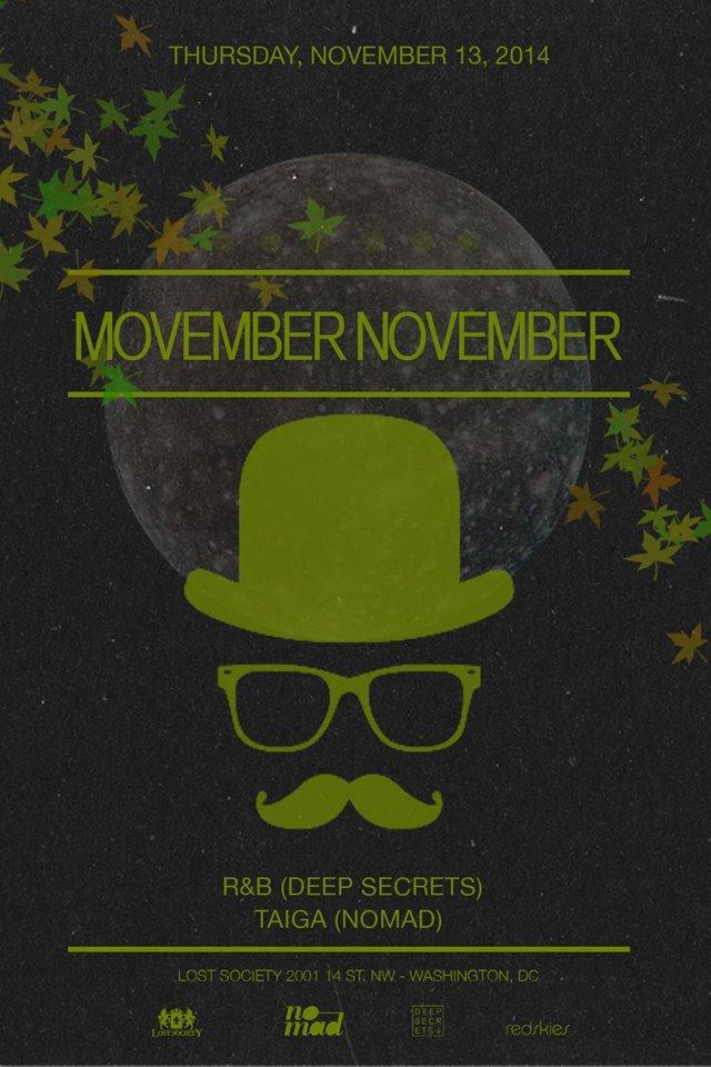 Lost on Thursdays Movember November feat. R&B, Taiga (Nomad) at Lost Society