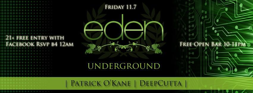 Eden Underground Feat. DeepCutta & Patrick O'Kane