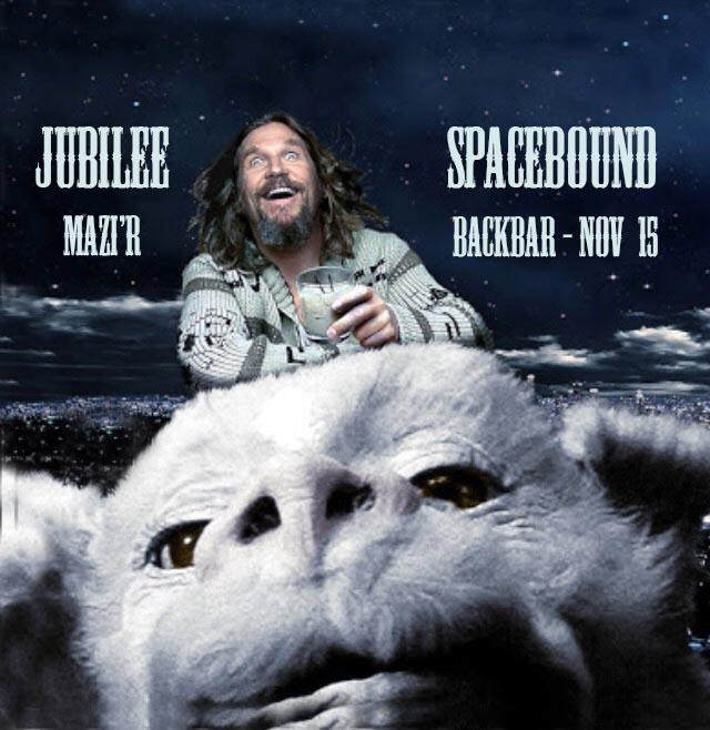 Spacebound w. Jubilee & Mazi'r at Backbar
