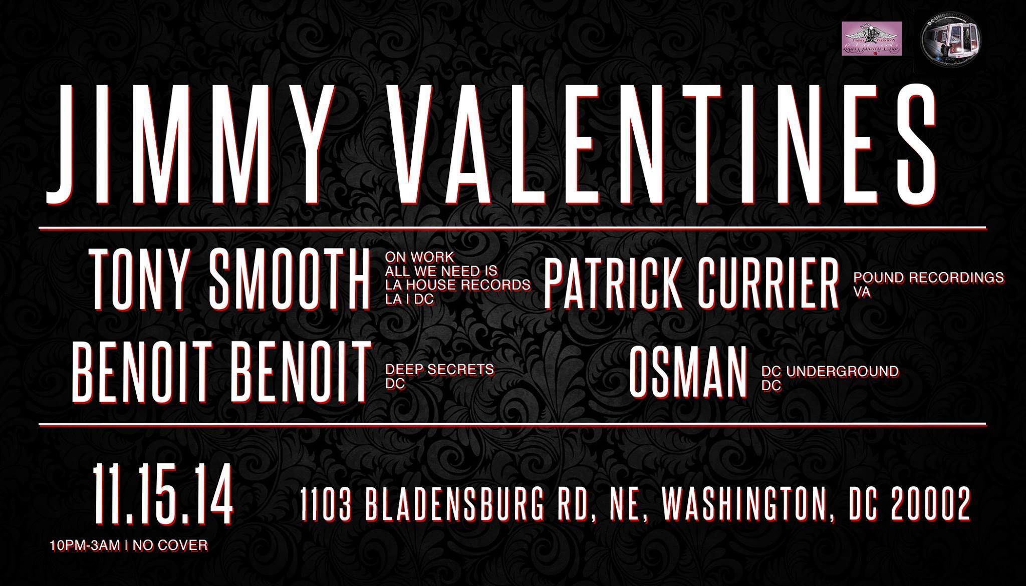 Groove Agenda: Welcome to the Underground at Jimmy Valentines