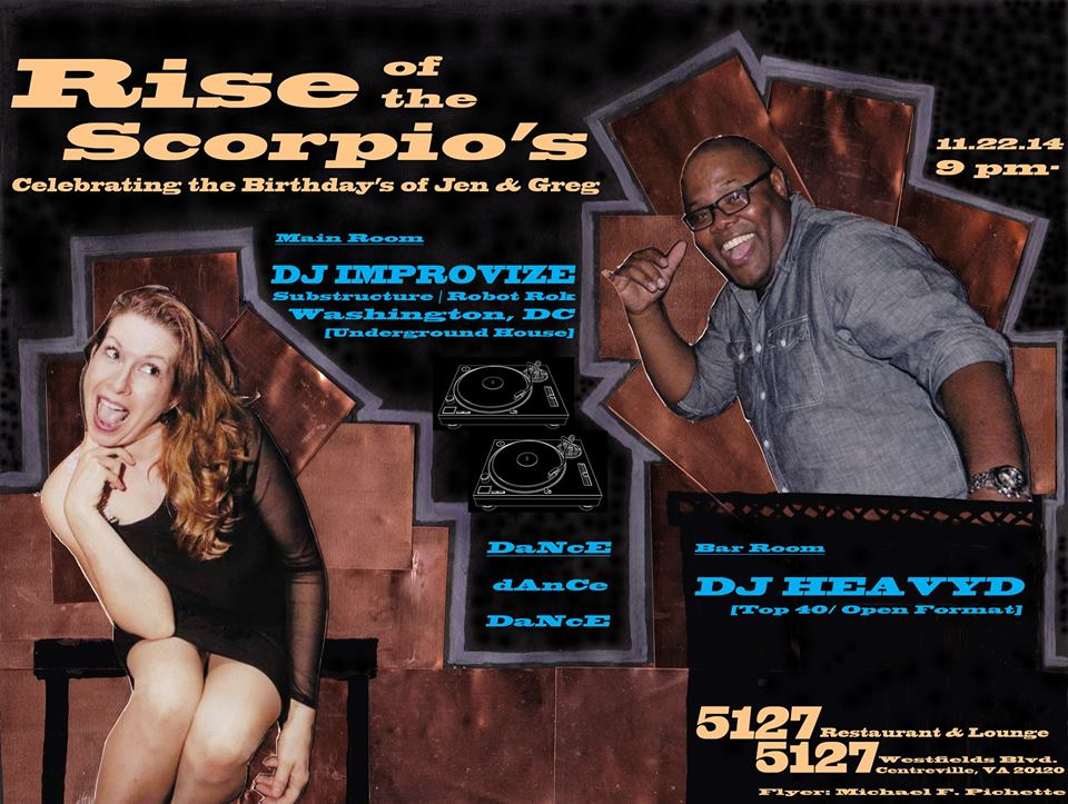 Rise of the Scorpios - Birthday Celebration for Jen & Greg at 5127 Restaurant & Lounge, Centreville