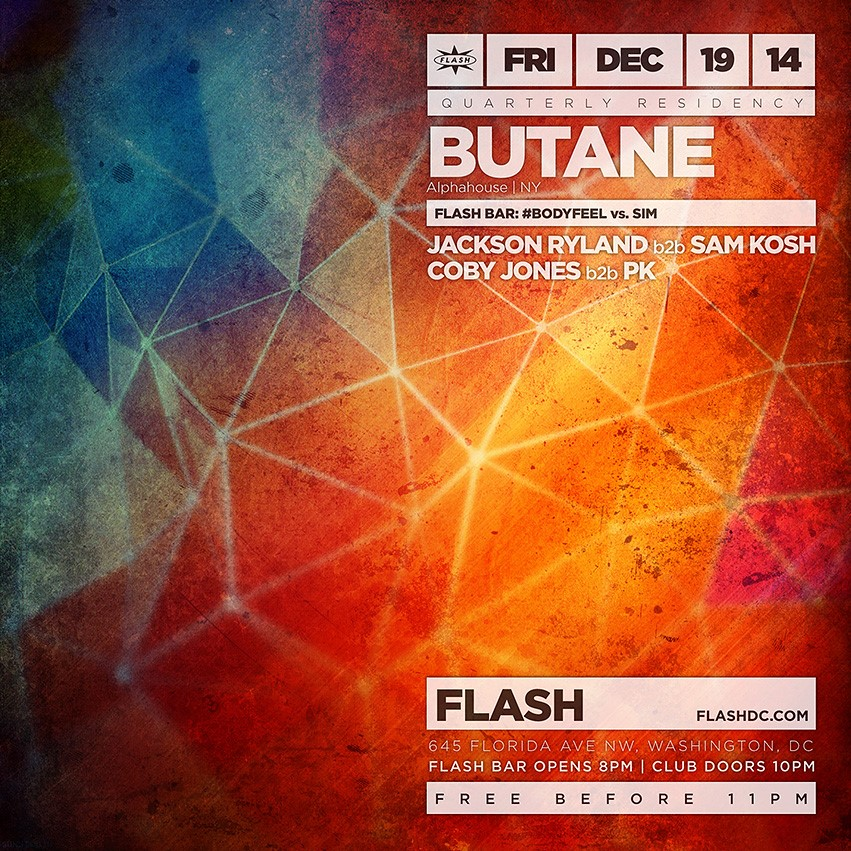 Quarterly Residency Series: Butane, Chris Burns, #BodyFeel vs. SIM at Flash