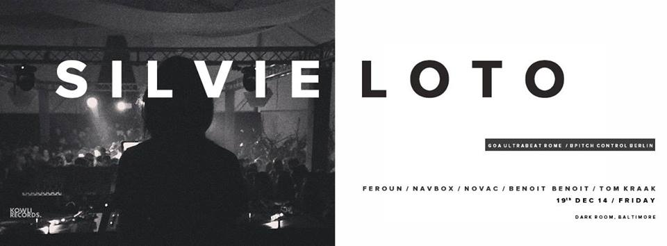 Kowli presents: Silvie Loto(Bpitch control|Berlin) at the Dark Room, Baltimore