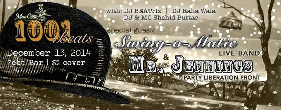Meso Creso Presents: 1001 Beats - Bowlers and Bow Ties Edition at Zeba Bar