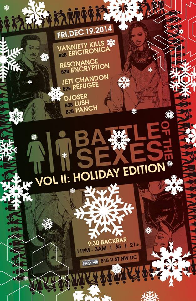 The Battle of the Sexes Vol.2 : Holiday Edition at BackBar