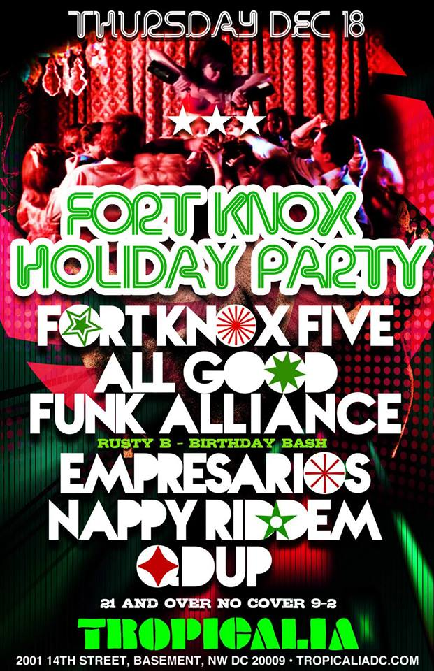 Fort Knox Holiday Party & Rusty B Birthday Bash at Tropicalia