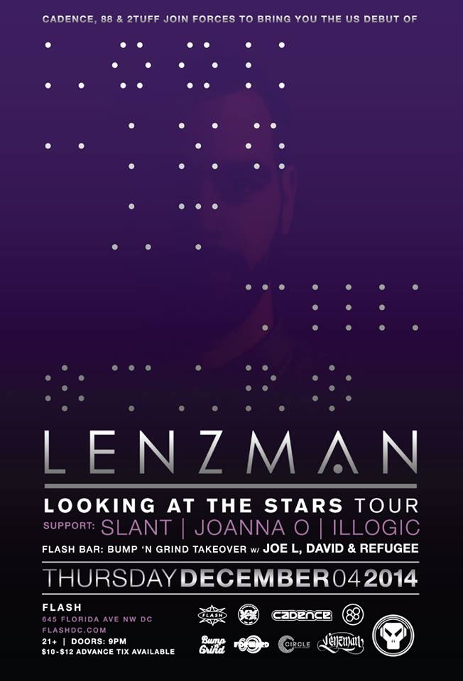 Cadence, 2Tuff & 88 present Lenzman at Flash