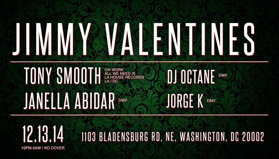 Tony Smooth, DJ Octane, Janella Abidar and Jorge K at Jimmy Valentines Lonely Hearts Club