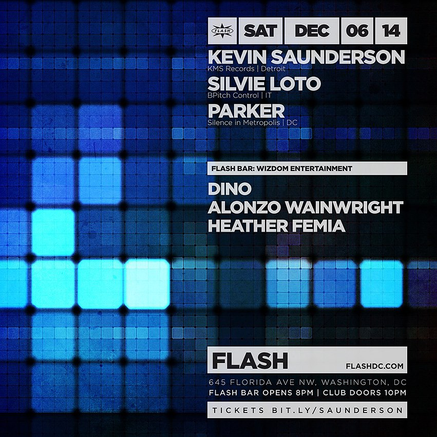 Kevin Saunderson, Silvie Loto, Parker, Wizdom Entertainment at Flash