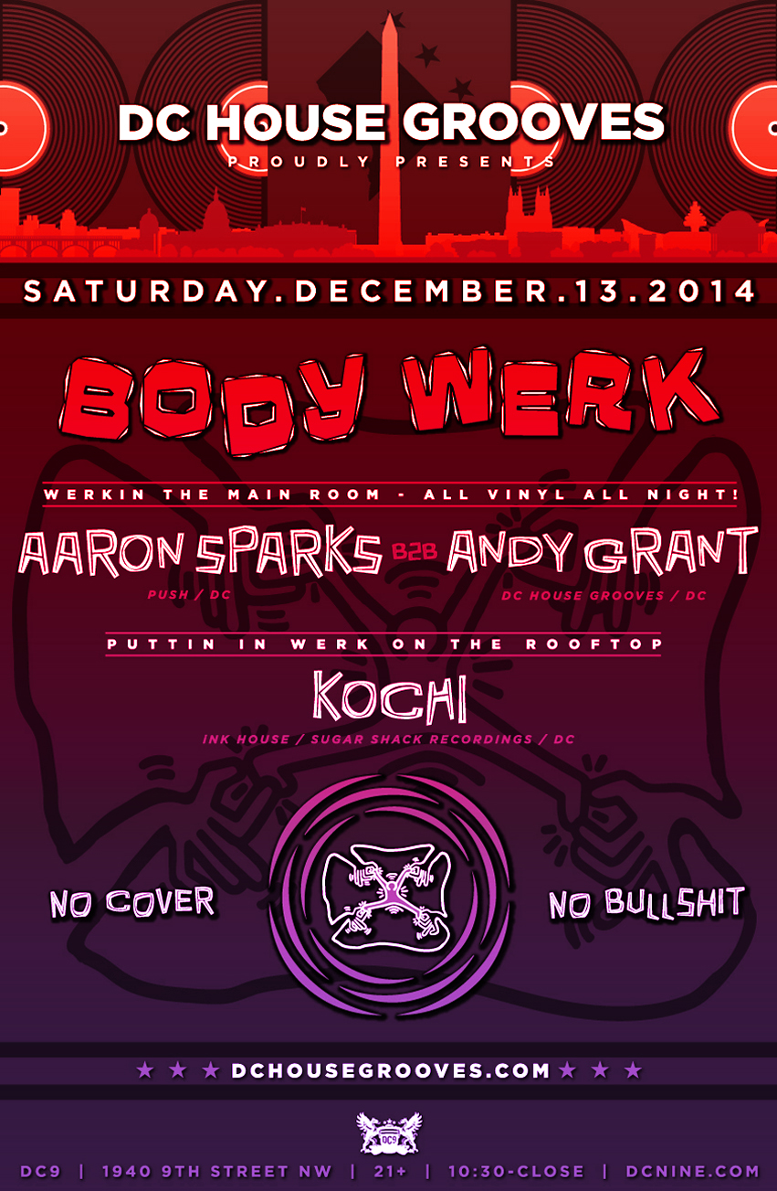 BODY WERK with Aaron Sparks, Andy Grant and Kochi