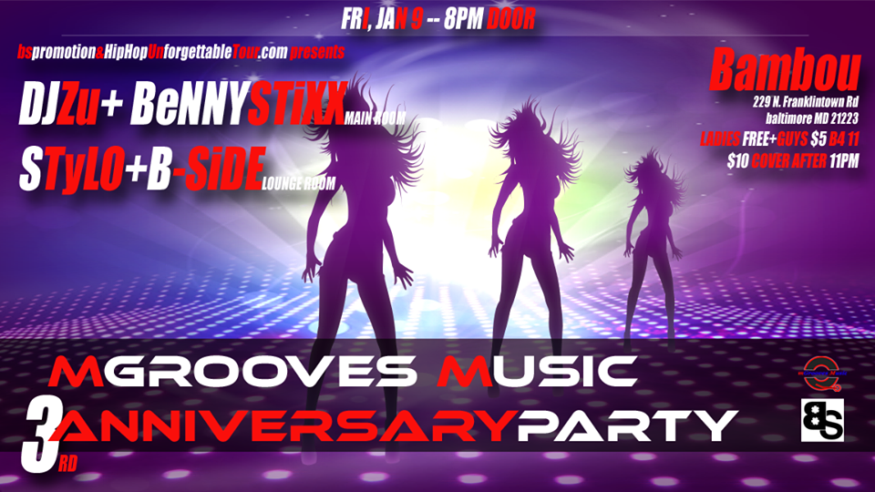 mGrooves Music 3rd Anniversary + Capricorn Throwdown at Bambou, Baltimore