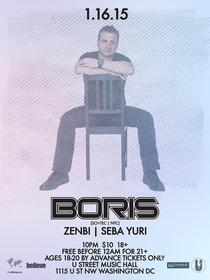 Boris with Zenbi & Seba Yuri at U Street Music Hall