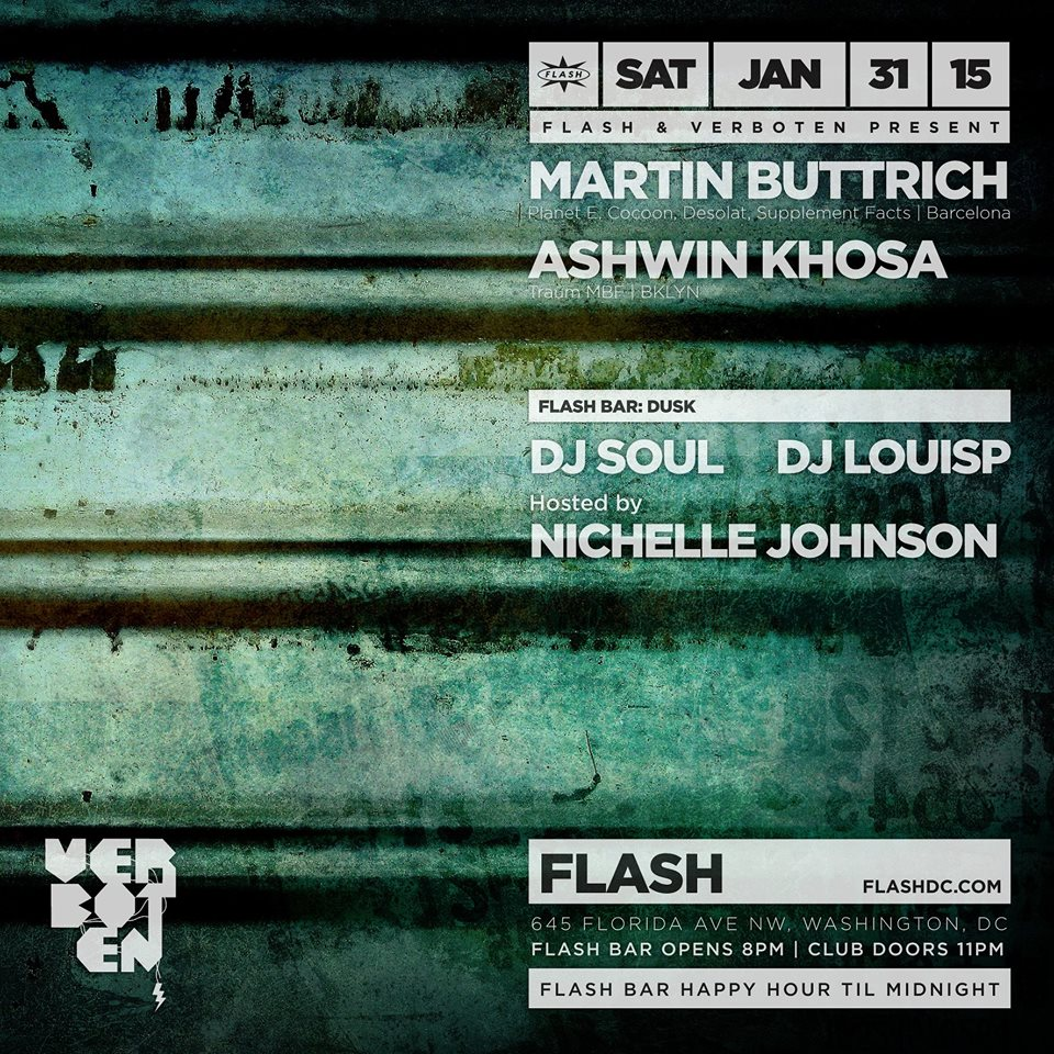 Flash & Verboten present Martin Buttrich & Ashwin Khosa with Dusk in the Flash Bar