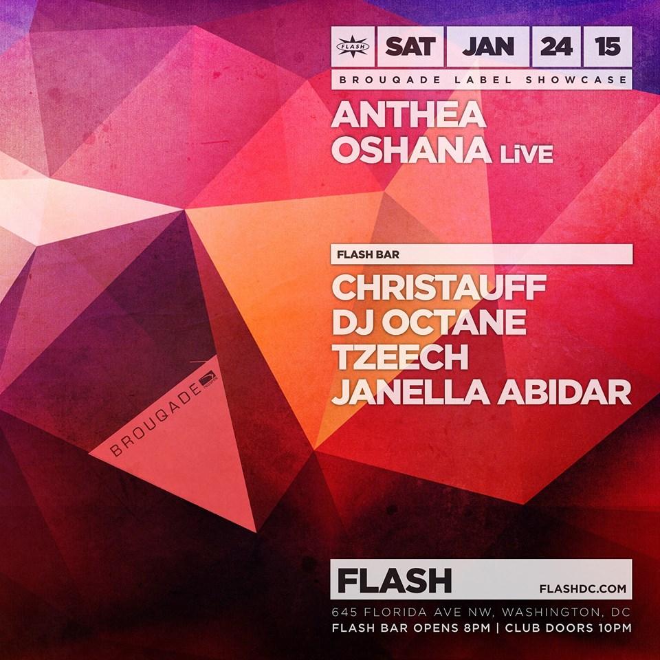 Brouqade Showcase: Anthea, Oshana LiVE, Jubilee at Flash with Christauff, DJ Octane, DJ Tzeech and Janella Abidar in the Flash Bar