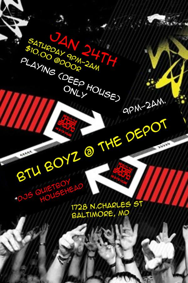 Beneath the Underground with The QuietBoy and DJ HouseHead at The Depot, Baltimore