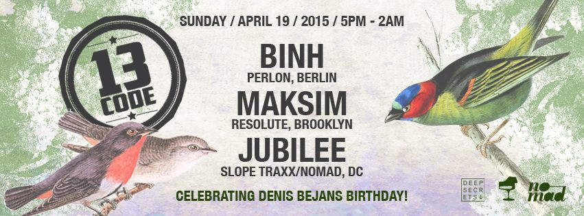CODE13 Rooftop feat. Binh (Perlon), Maksim (Resolute) & Jubilee (Slope Traxx) at Eighteenth Street Lounge