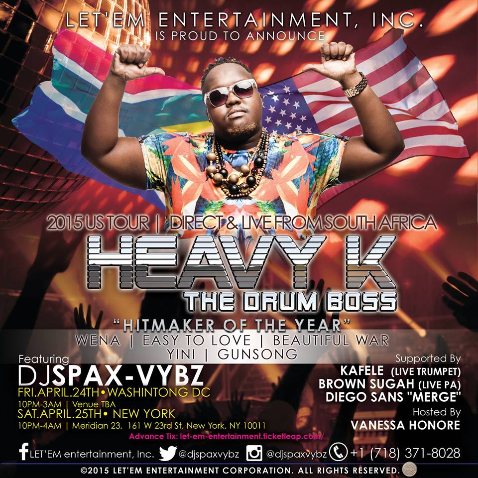 Heavy K (The Drum-Boss) with DJ Spax-Vybz at Vita Lounge