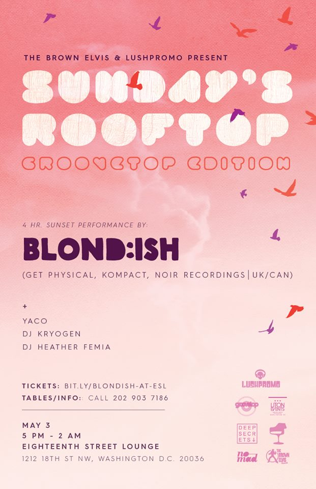 The Brown Elvis Presents's post in Blond:ish with Yaco, DJ Kryogen & Heather Femia on the patio at Eighteenth Street Lounge
