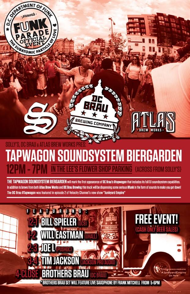 Tapwagon Sound System Biergaden presented by Solly's, DC Brau and Atlas Brew Works