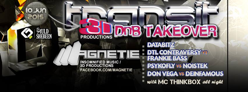 TRANSIT - 3D Productions All DNB Takeover! at The Auld Shebeen, Fairfax