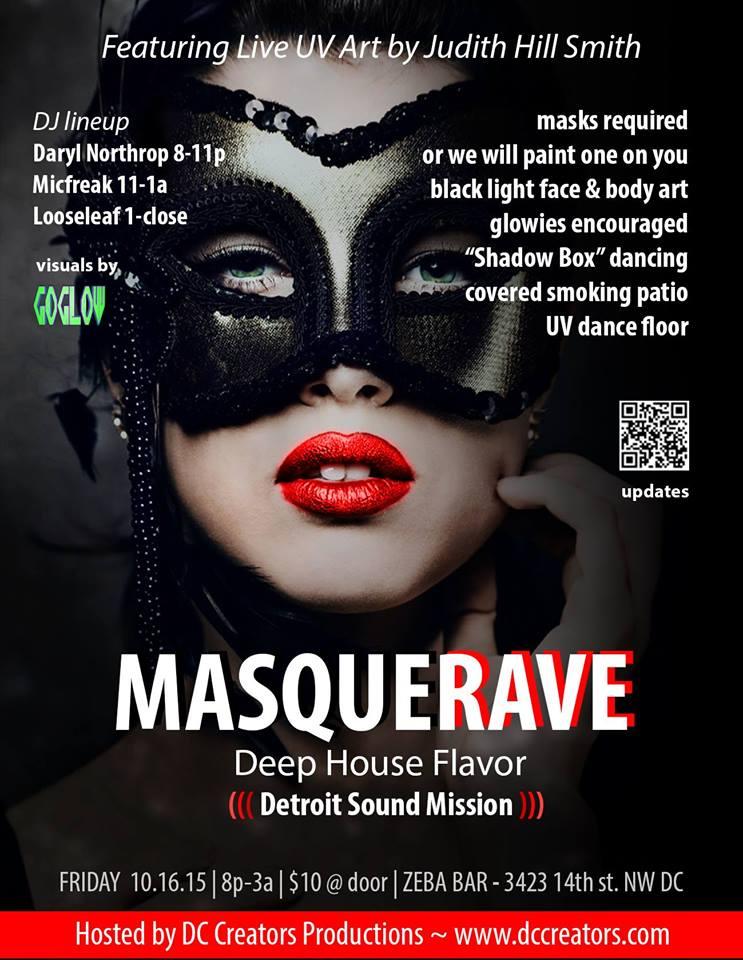 Masquerave 2015 at Zeba Bar