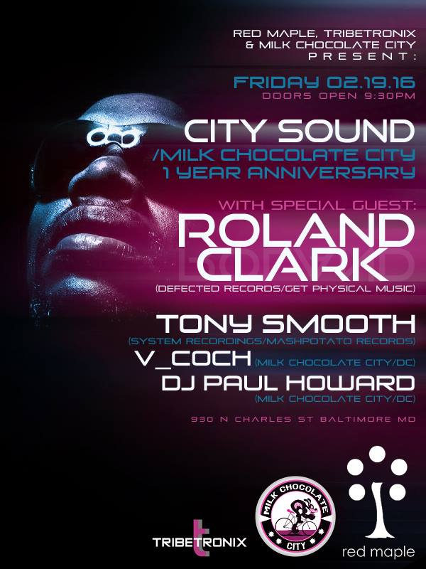 Roland Clark with Tony Smooth, V-Coch and DJ Paul Howard at The Red Maple