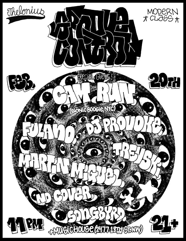 Groove Control Dance Party with Cam Run, Dj Provoke, Fulano, Martín Miguel and Trev-ski at Songbyrd Music House & Record Cafe
