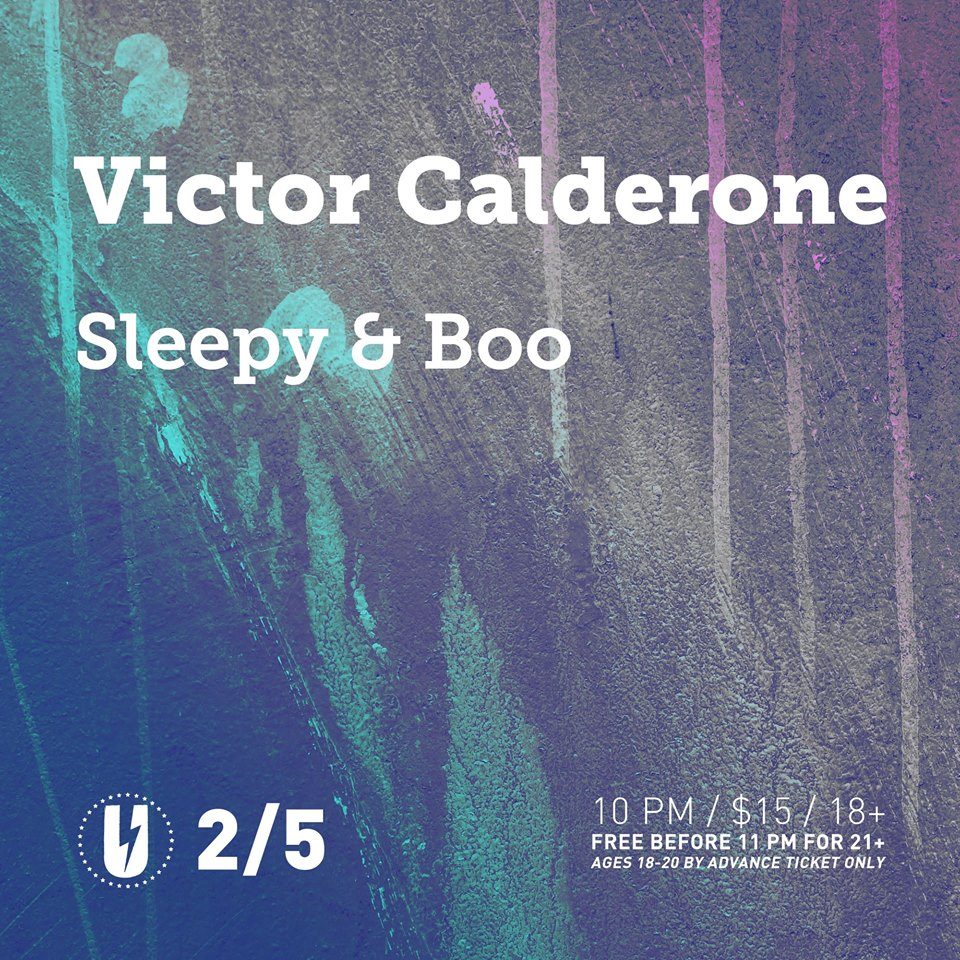 Victor Calderone with Sleepy & Boo at u Street Music Hall