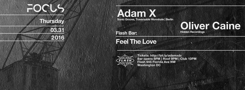 Focus with adam x at flash