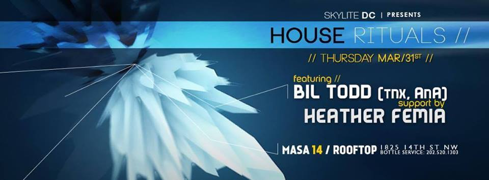 House Rituals with Bill Tod and Heather Femia at Masa 14