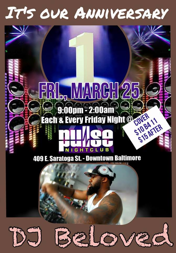 Pulse Fridays with DJ Beloved at Pulse Nightclub, Baltimore