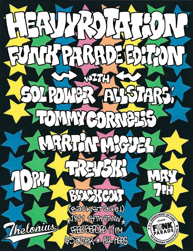 Heavy Rotation: Funk Parade Afterparty Edition at Black Cat Backstage