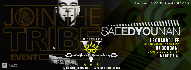 Sunglass Sundays V featuring Saeed Younan, Leonardo Lee and DJ Gorgani at Public Bar