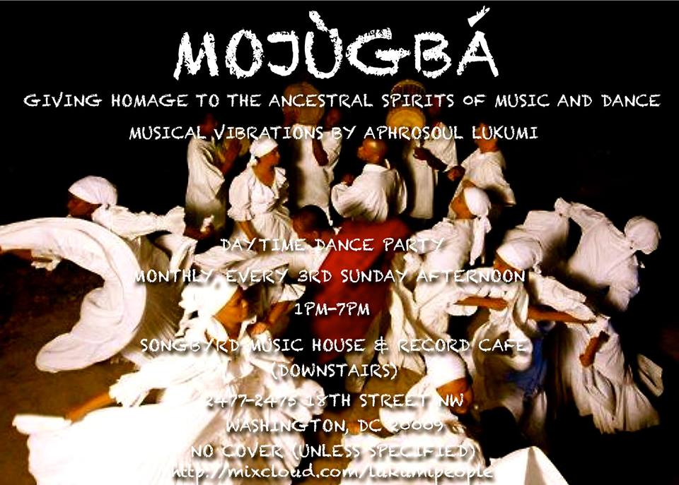 Mojùgbá: A Sunday Afternoon Daytime Dance Party at Songbyrd Music House & Record Cafe